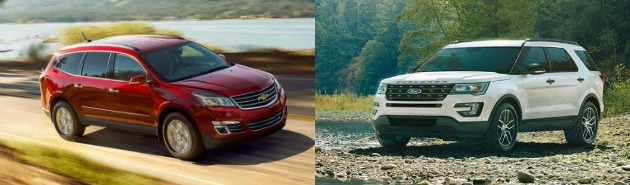 2016 Chevy Traverse vs Ford Explorer