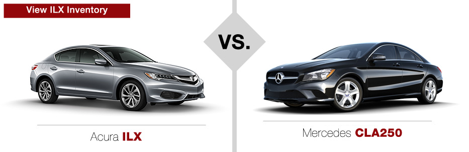 Acura ILX vs Mercedes-Benz CLA250