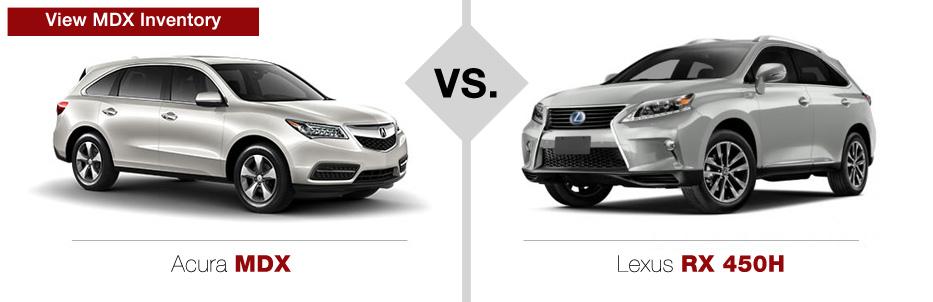 Acura MDX vs. Lexus RX 450H