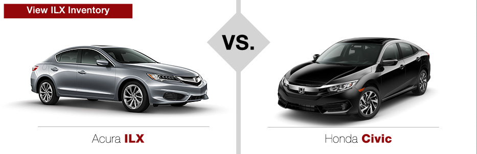 Acura ILX Sedan vs. Honda Civic Sedan