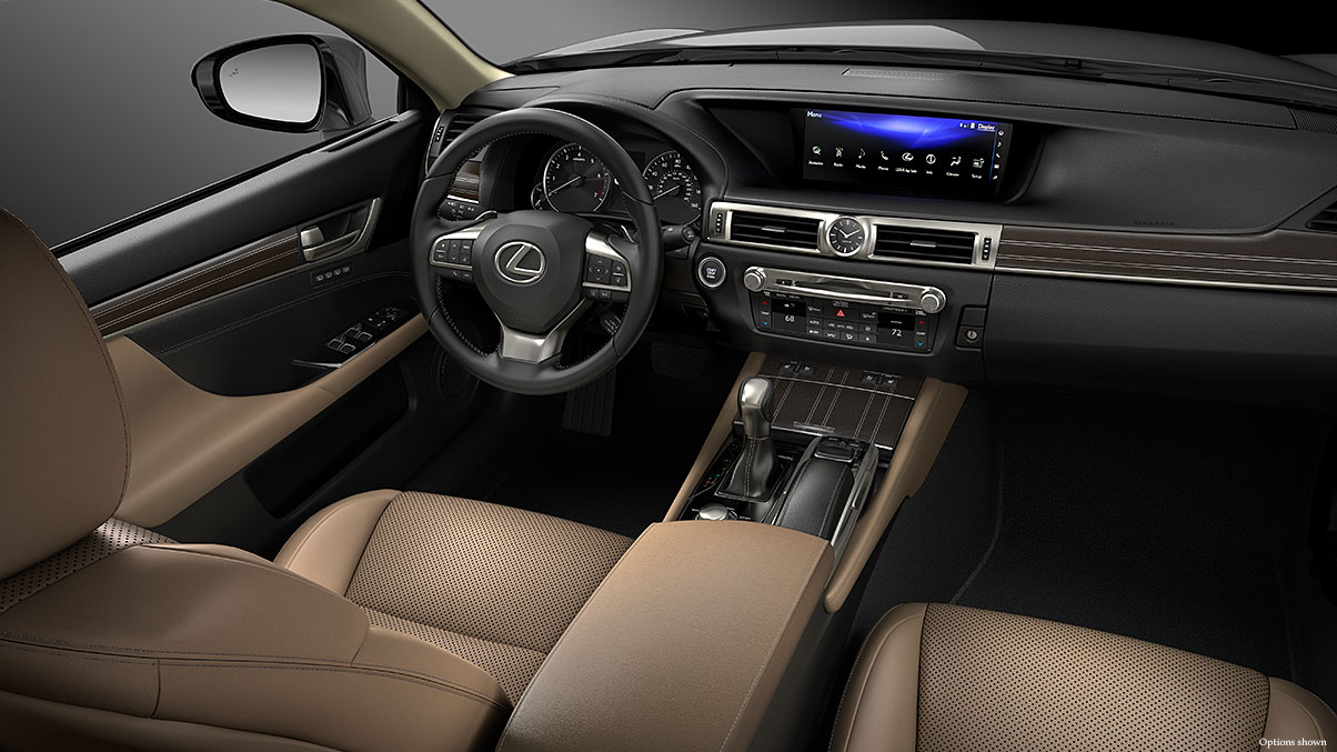 The Centerpiece of the GS 350 is the 12.3-inch Display!