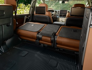 Cargo space in the new Toyota Land Cruiser