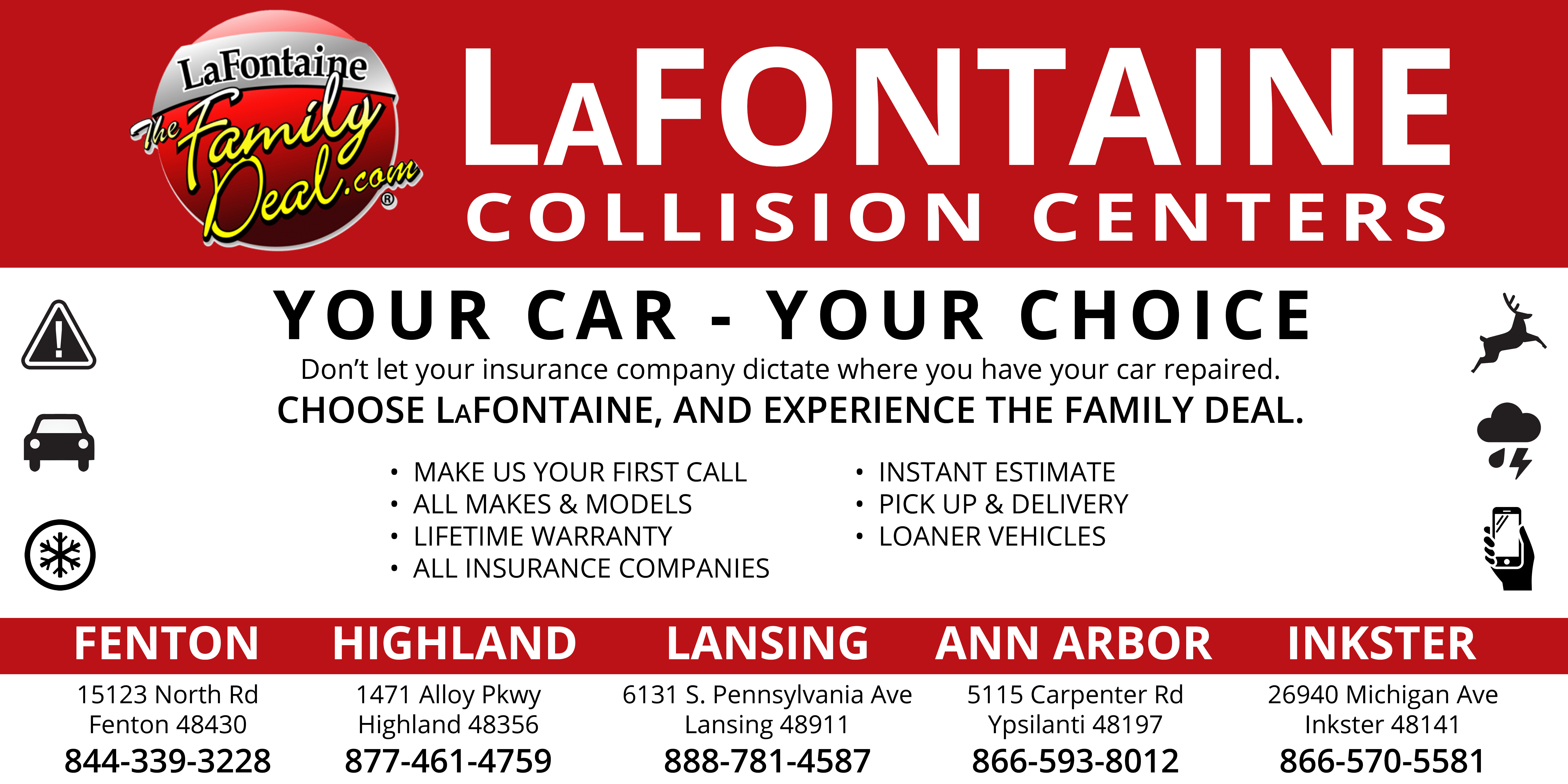 Automotive Body Shop Collision Paint Repair LaFontaine Used Cars - Signs of cars with names