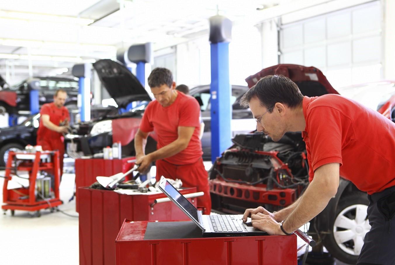 Our mechanics work hard to serve you!