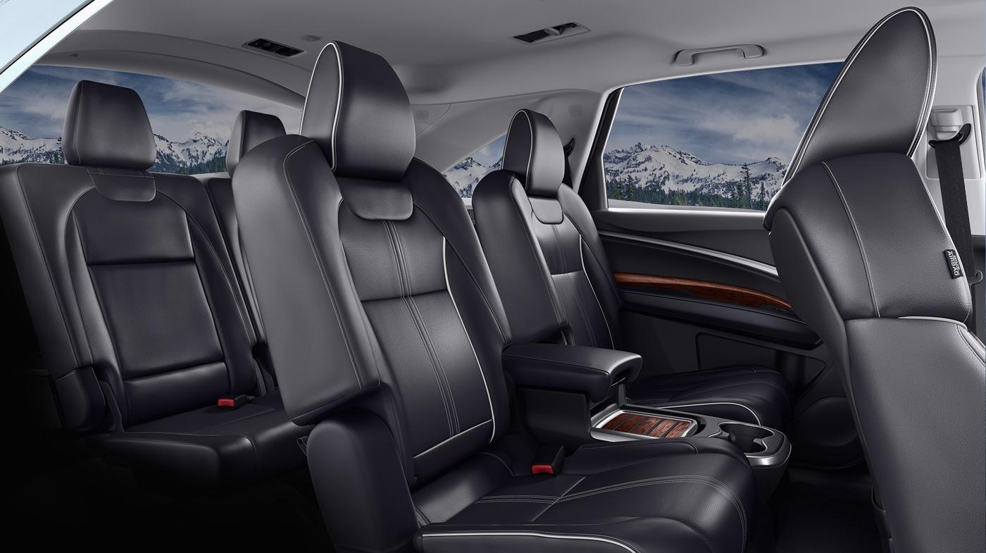 Interior of the 2017 Acura MDX