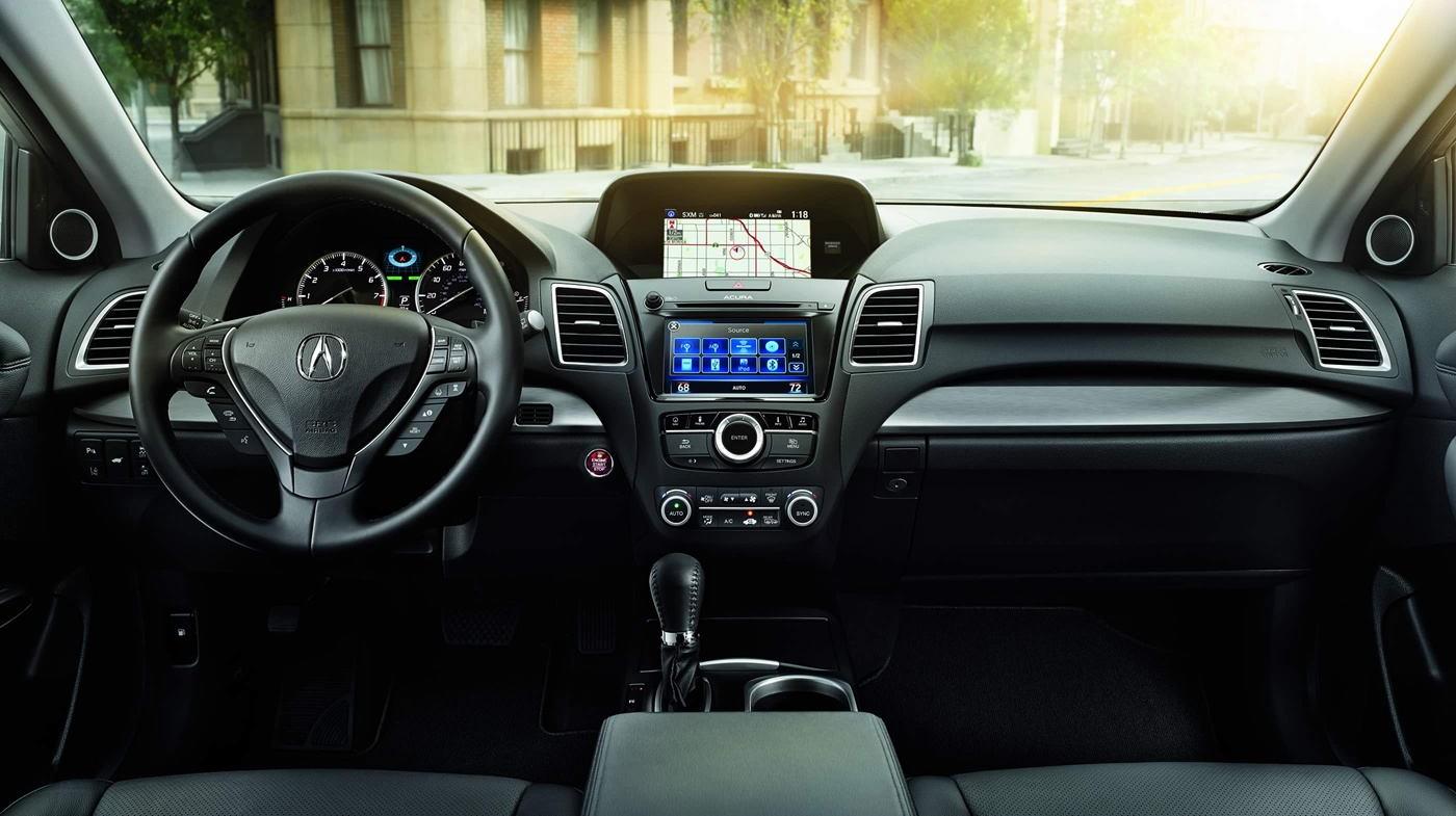 Enjoy the Leather-wrapped Steering Wheel in the RDX