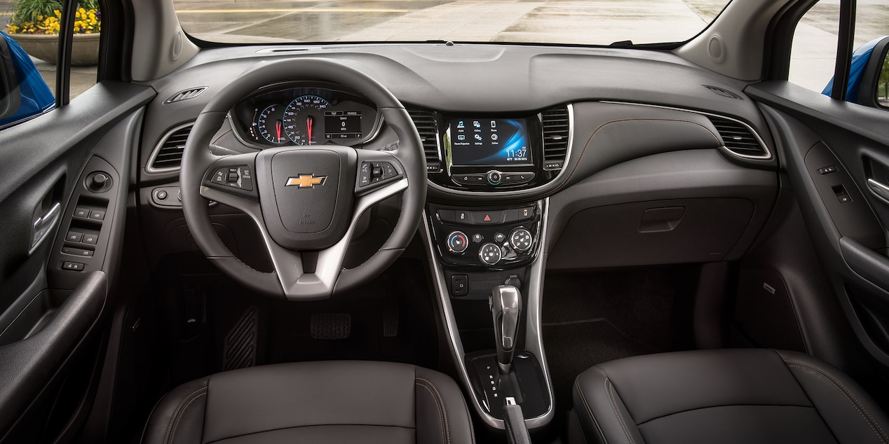 2017 Chevy Trax Interior with Jet Black Leatherette Seats