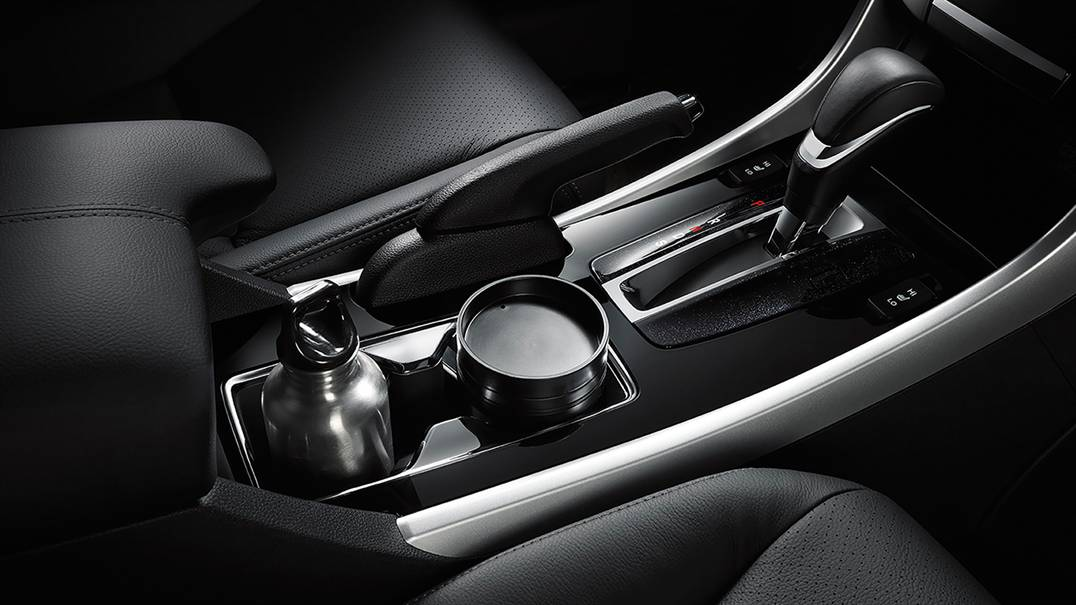 Strategic Cup Holders in the Accord