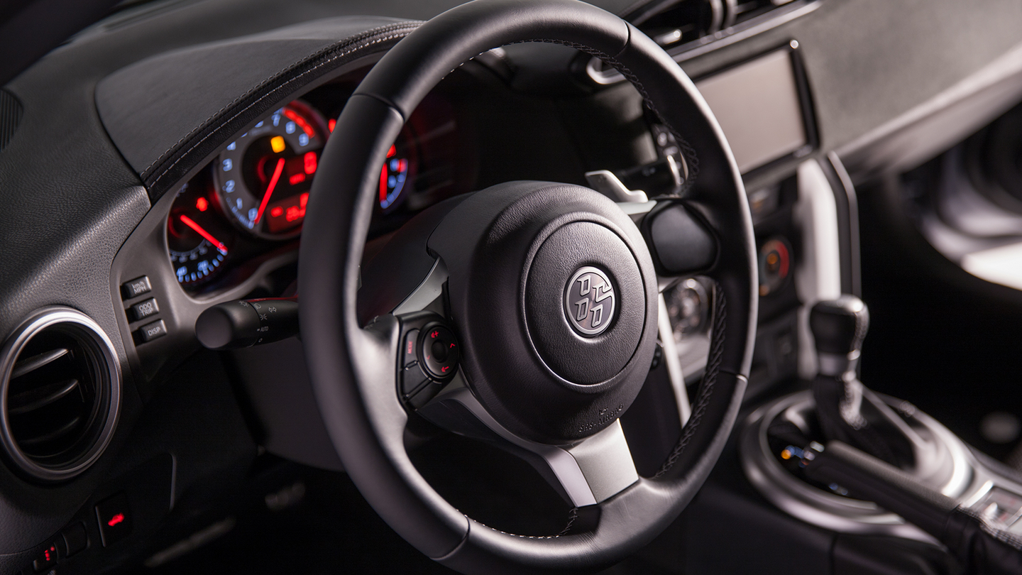 Grip the Available Leather-Wrapped Steering Wheel!