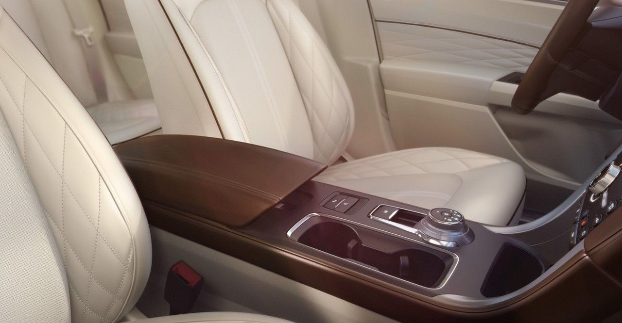 2017 Ford Fusion Interior with Leather-trimmed Seats in Cocoa